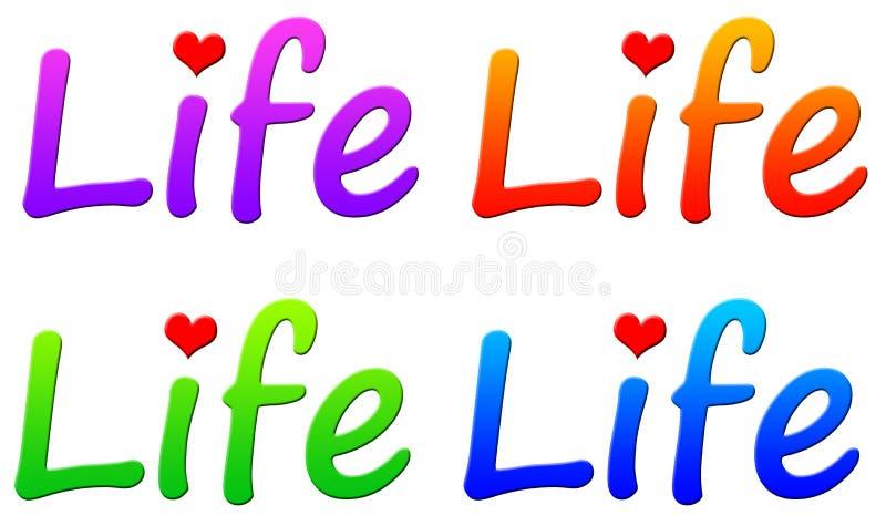 livstid stock illustrationer