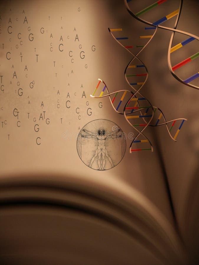 livstid för 2 bokgenetik stock illustrationer