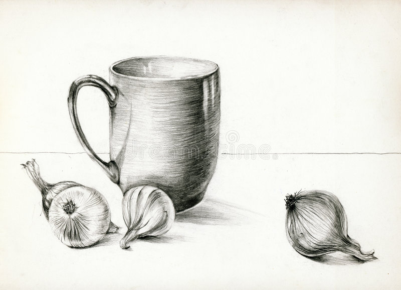 livstid för 2 kök fortfarande royaltyfri illustrationer