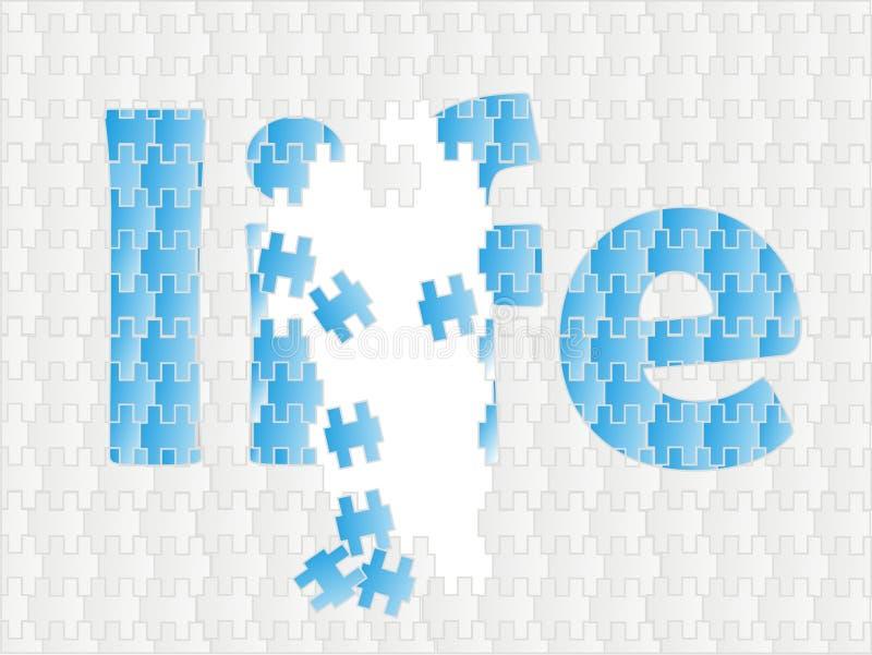 livstid like puzzele stock illustrationer