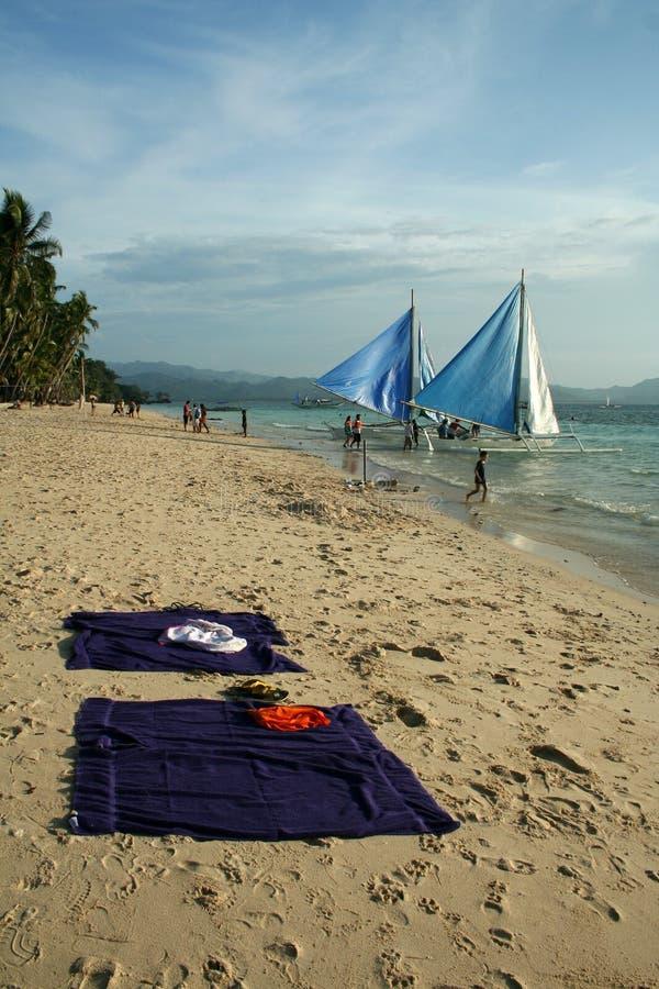 livstid philippines för strandboracay ö royaltyfri fotografi