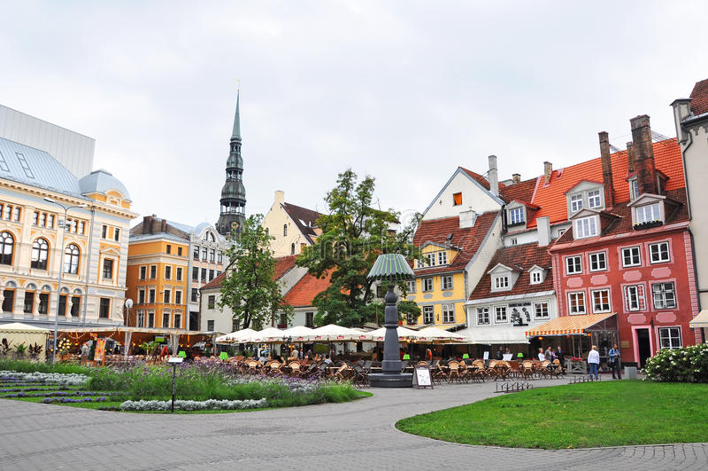 Livu Laukums vierkant, Oud Riga royalty-vrije stock foto's