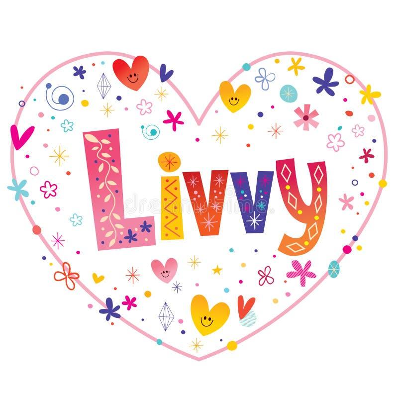 Livvy女孩命名 皇族释放例证
