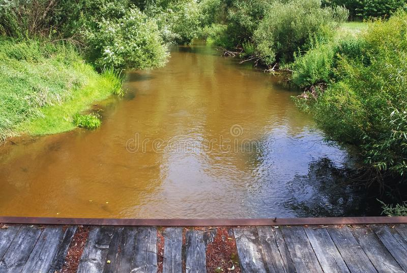Liwiec-Fluss in Polen lizenzfreie stockbilder