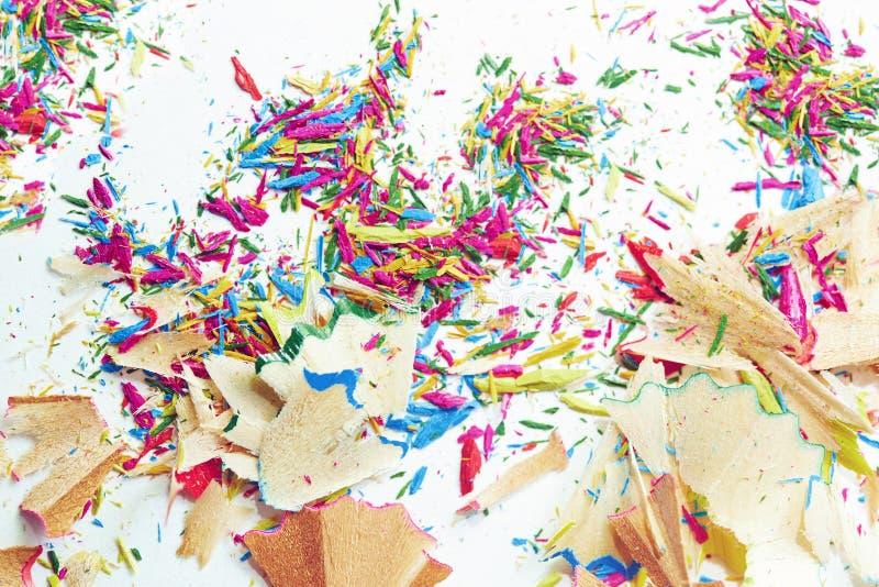 Lixo colorido dos lápis imagens de stock royalty free