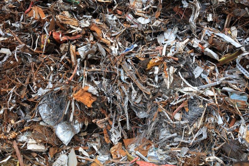 Lixo da sucata e do metal para reciclar em Alemanha foto de stock