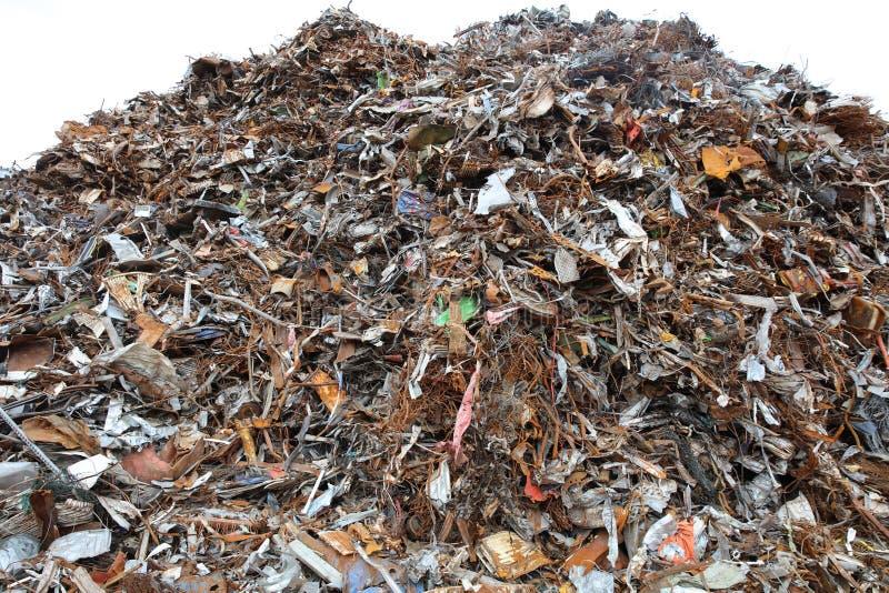 Lixo da sucata e do metal para reciclar em Alemanha fotos de stock