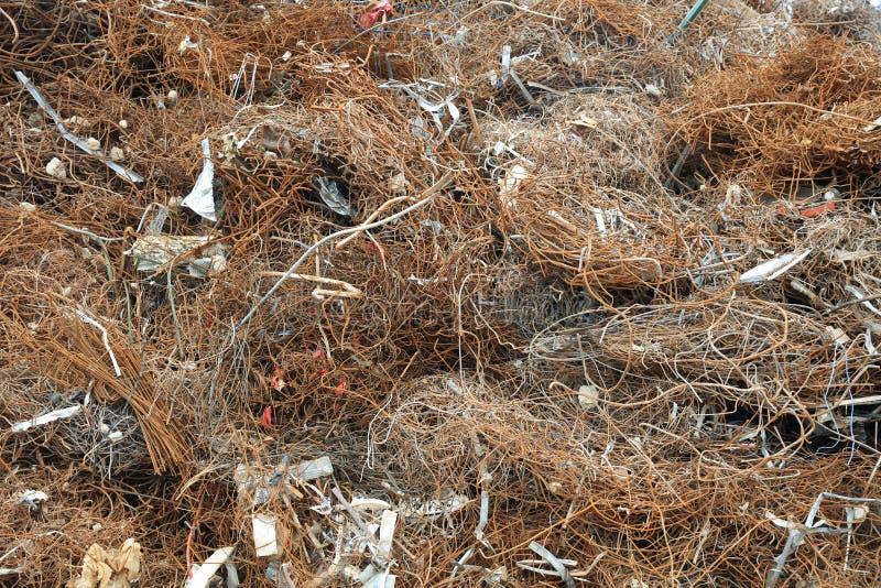 Lixo da sucata e do metal para reciclar em Alemanha imagem de stock royalty free