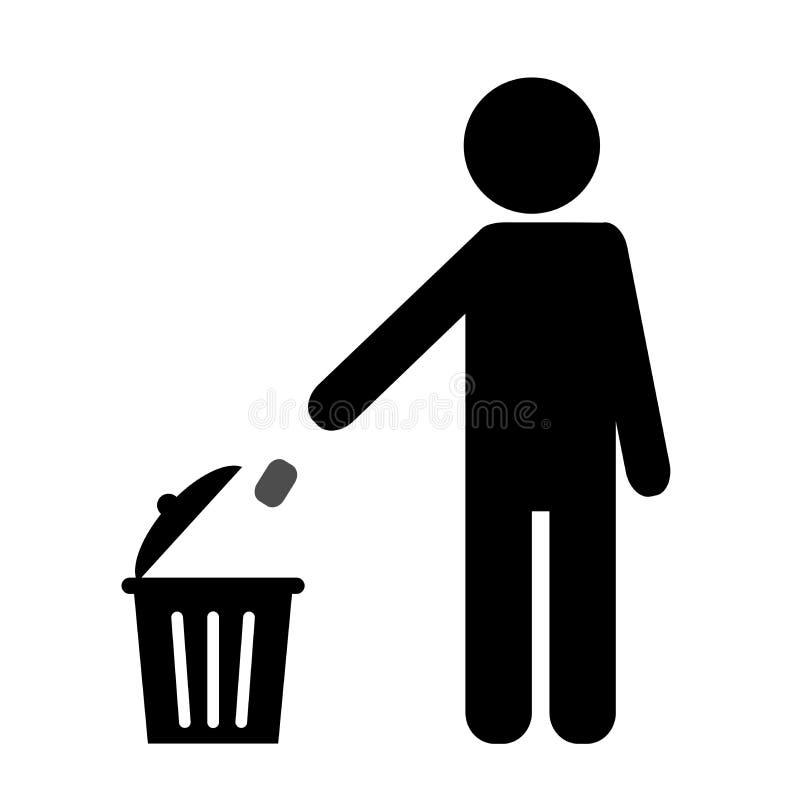 Lixo do lance em seu lugar ilustração stock