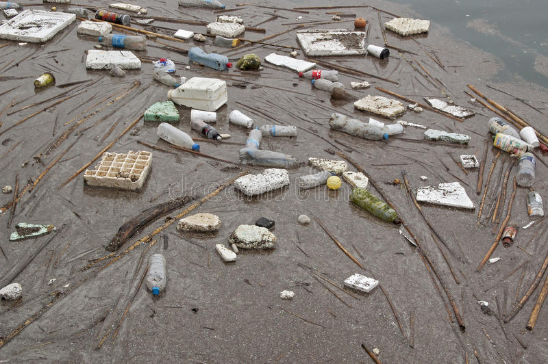 Lixo do mar fotografia de stock