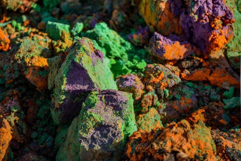 lixo Multi-colorido fotografia de stock