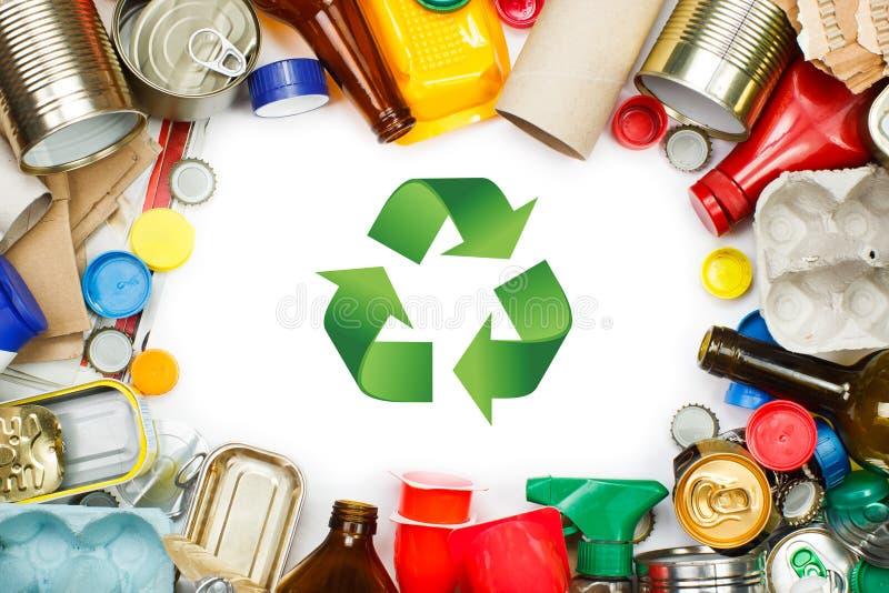 Lixo segregado imagem de stock