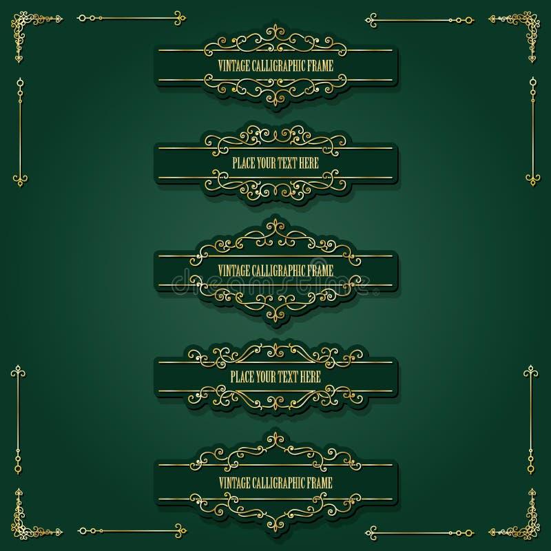 Lixury dividers i royalty ilustracja