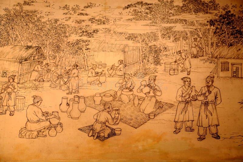 Liye,中国古老tujia镇在湖南 图库摄影