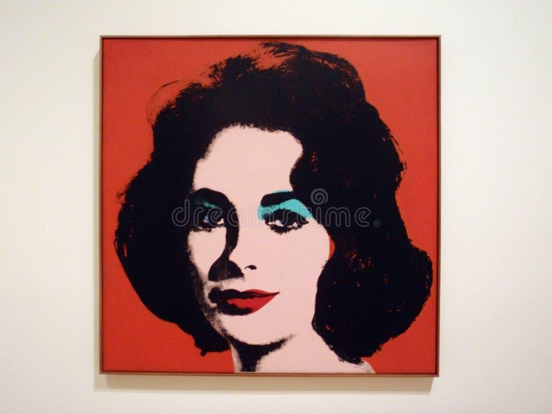 Liz rouge par Andy Warhol au SFMOMA images libres de droits