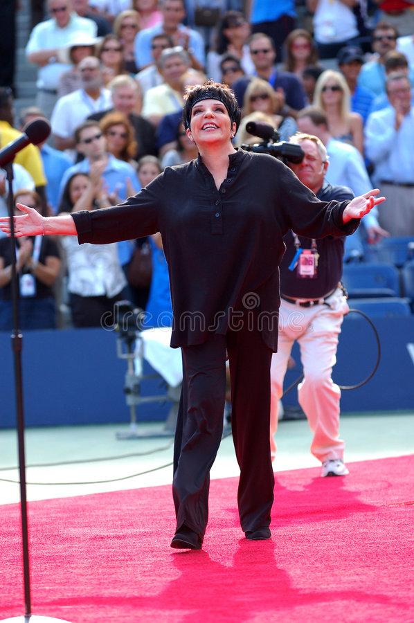 Liza Minnelli chante aux USA ouvrent 2007 (3) photographie stock