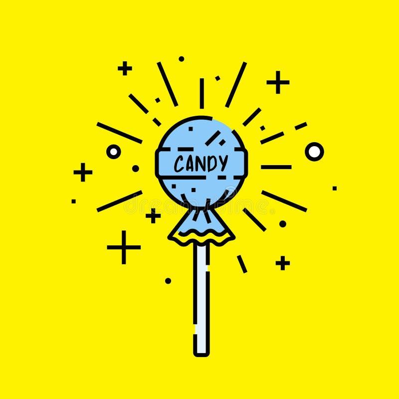 Lizaka cukierku ikona royalty ilustracja