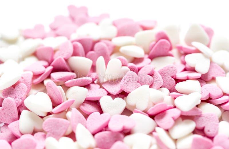 Lizaka projekt z cukrowymi candys na słodkim texure abstrakta tle obraz royalty free