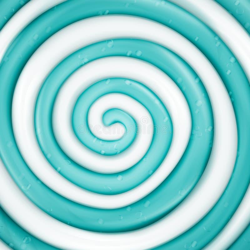 Lizaka wektoru tło Błękitna Round Słodka cukierek spirali ilustracja ilustracji