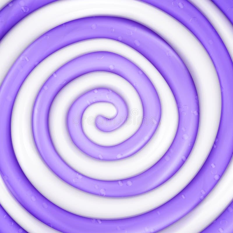 Lizaka wektoru tło Realistycznego cukierku purpur zawijasa Round ilustracja ilustracja wektor