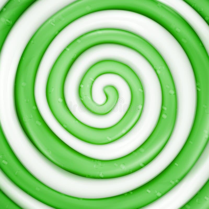 Lizaka wektoru tło Zielonego Słodkiego cukierku zawijasa Round ilustracja ilustracja wektor