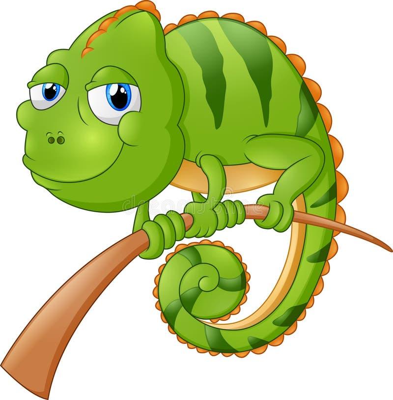 Lizard cartoon illustration stock illustration