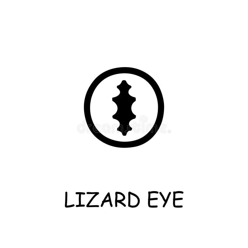 Lizard Eye flat  icon vector illustration