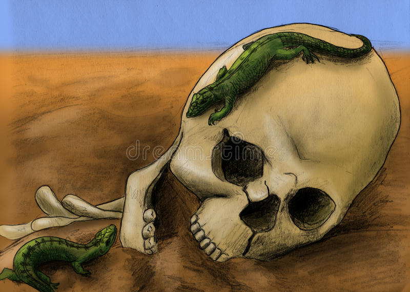 Download Lizard games stock illustration. Illustration of life - 17566871