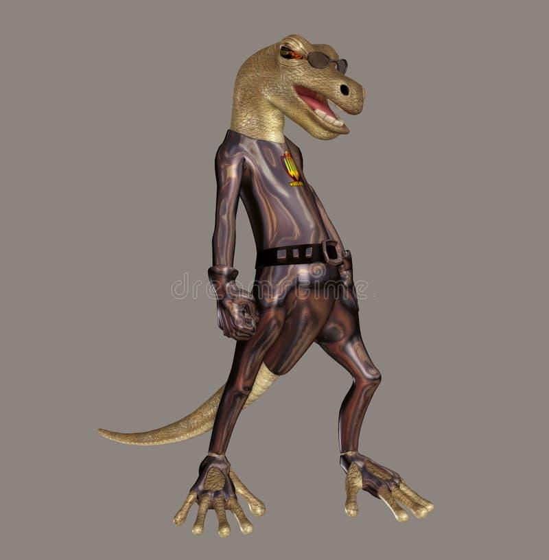 Lizard Hero vector illustration