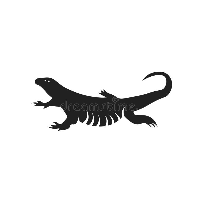 Lizard icon vector sign and symbol isolated on white background, Lizard logo concept stock illustration