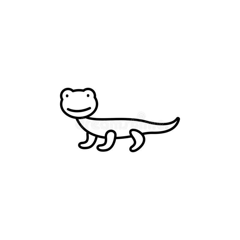 lizard line icon. Element of jungle for mobile concept and web apps illustration stock illustration