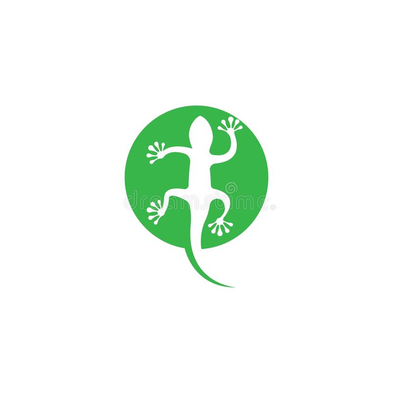 Lizard logo template vector  icon illustration stock illustration