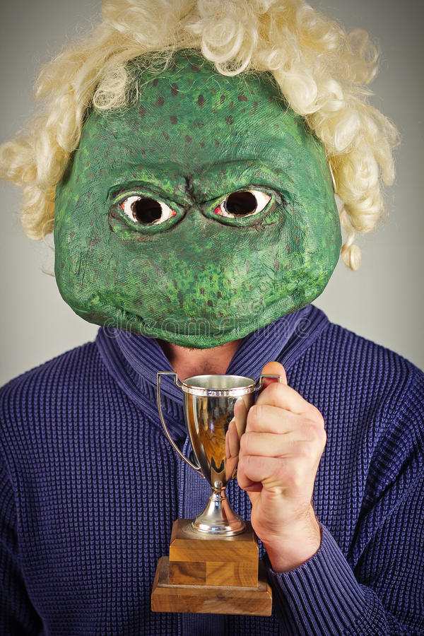 Lizard Mask Sweater royalty free stock photography