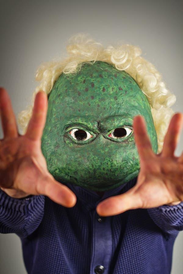 Lizard Mask Sweater royalty free stock image