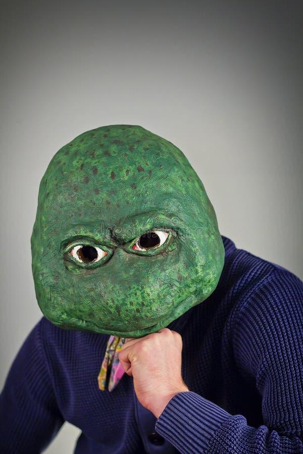 Lizard Mask Sweater royalty free stock photo