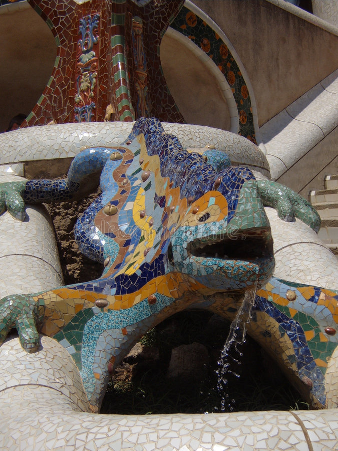 Download The Lizard in park Guell stock photo. Image of barcelona - 3289246
