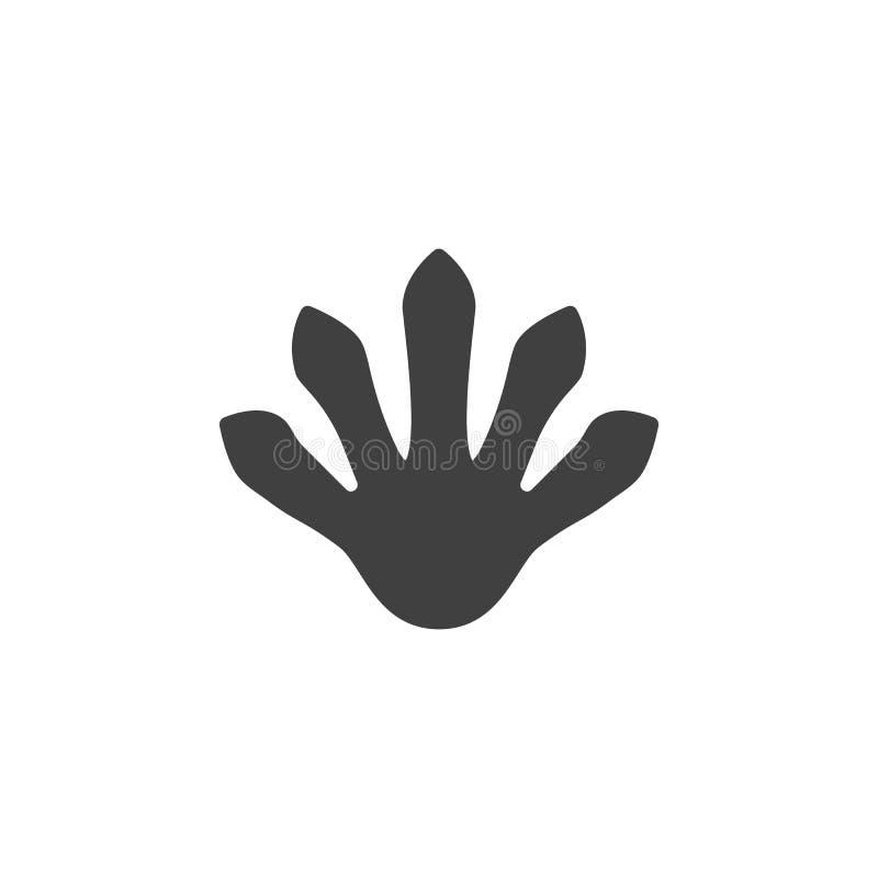 Lizard paw print vector icon vector illustration