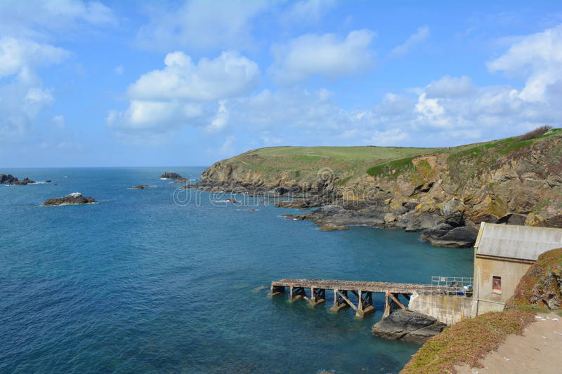 Lizard Point In Cornwall / Cliffs And Sea Stock Image - Image of ...