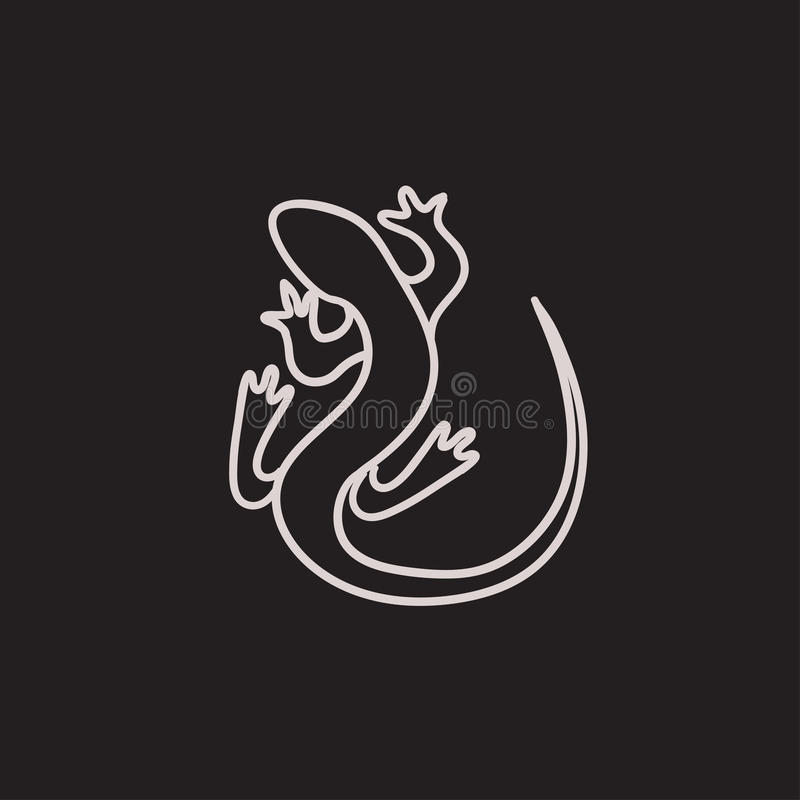 Lizard sketch icon. royalty free illustration