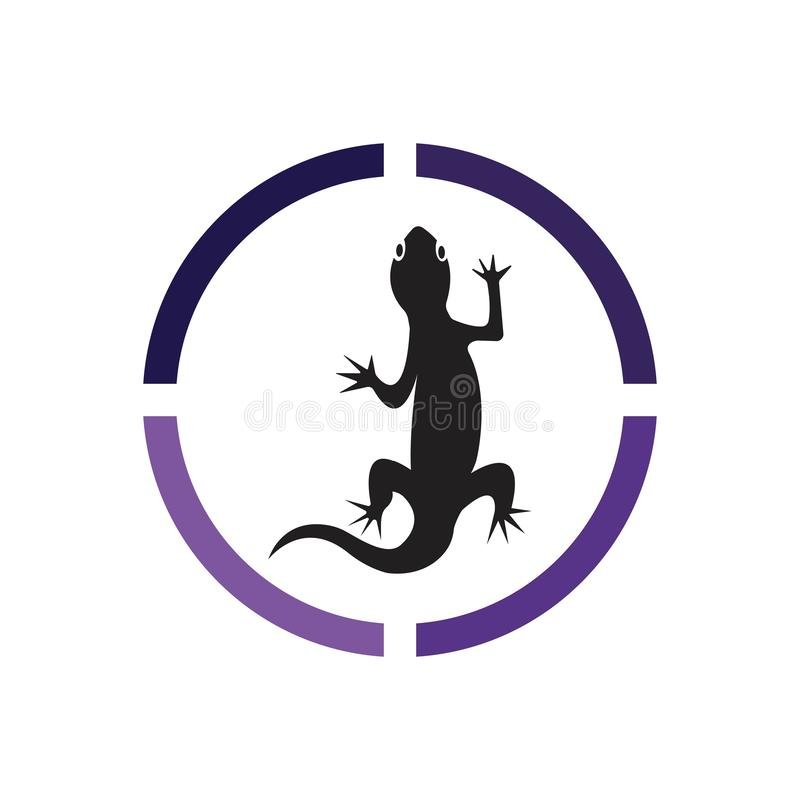 Lizard vector icon logo and symbols template - Vector. Animal, iguana, eye, chameleon, wildlife, nature, frog, closeup, macro, skin, gecko, green, dragon royalty free illustration