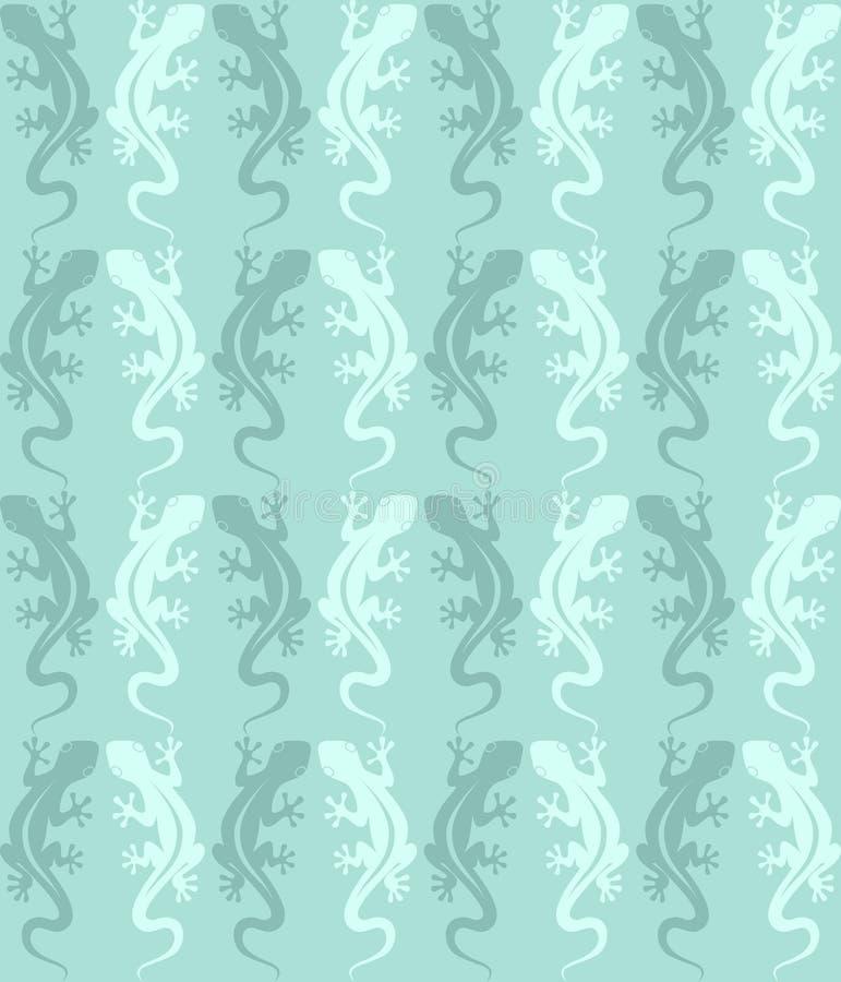 Lizards pattern royalty free illustration