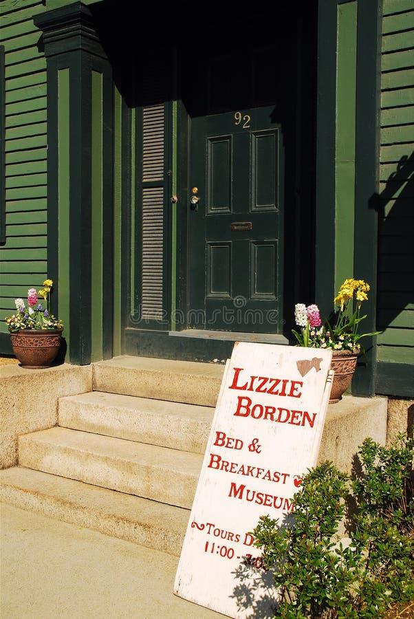 Lizzie Borden Bed e café da manhã e museu imagens de stock