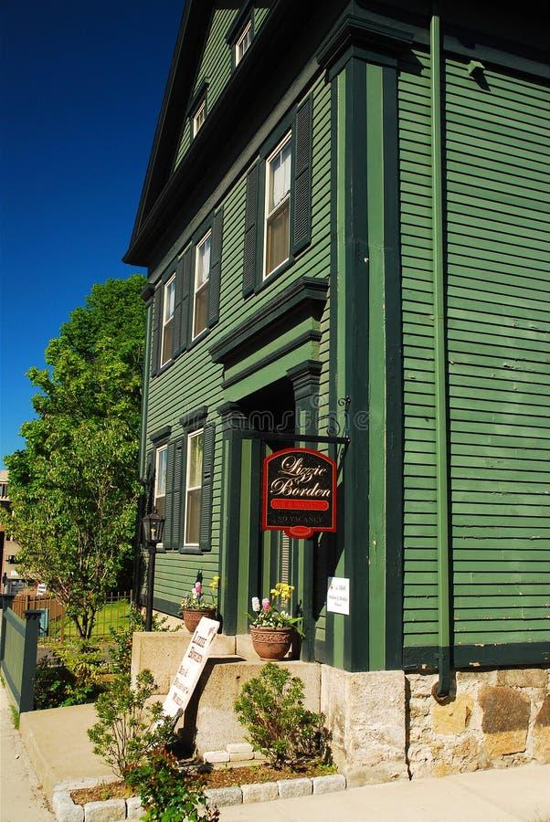 Lizzie Borden House em Fall River Massachusetts fotos de stock royalty free