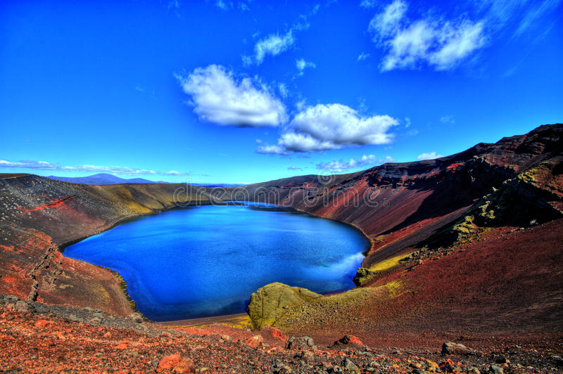 Download Ljotipollur Lake In HDR, Iceland Royalty Free Stock Photography - Image: 26855287