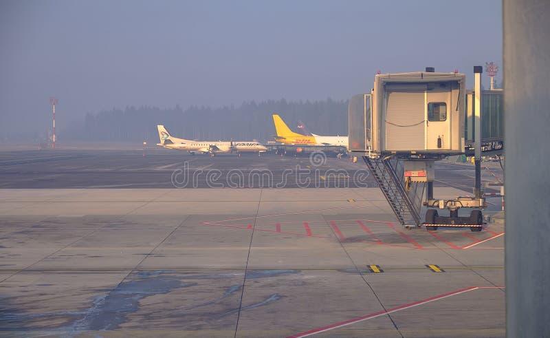 LJU терминала восхождение на борт рождества pre стоковая фотография rf