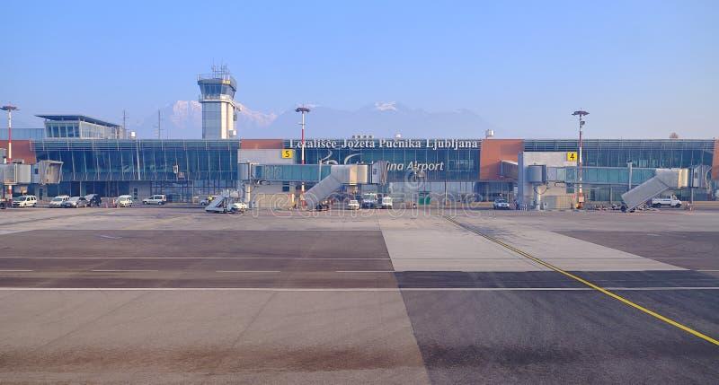 LJU терминала восхождение на борт рождества pre стоковые фотографии rf