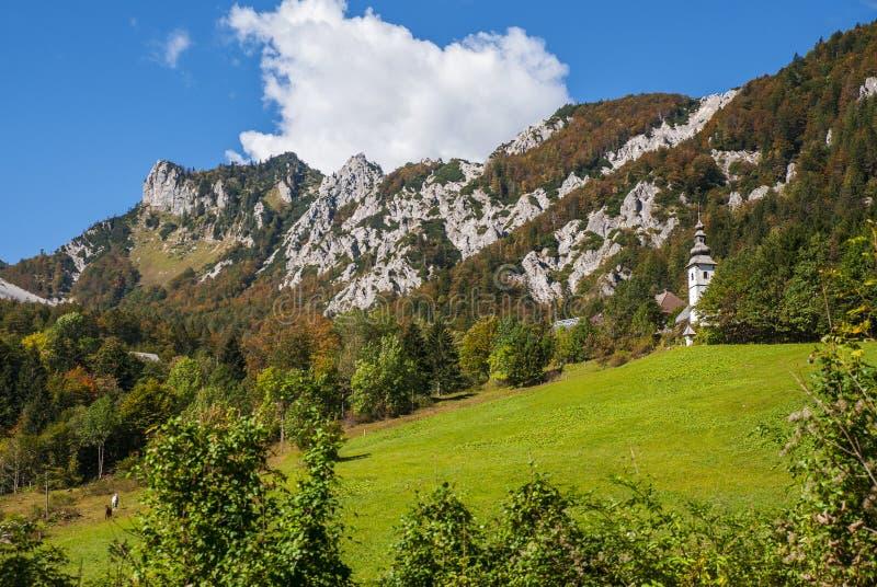 Ljubelj mountain pass, nature, Slovenia. Ljubelj mountain pass in Slovenia, Europe stock photo