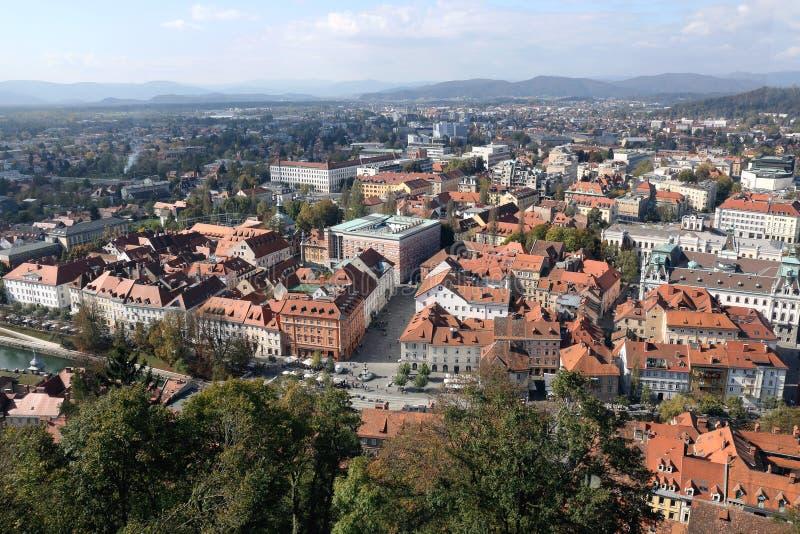 Ljubljana c?ntrica foto de archivo