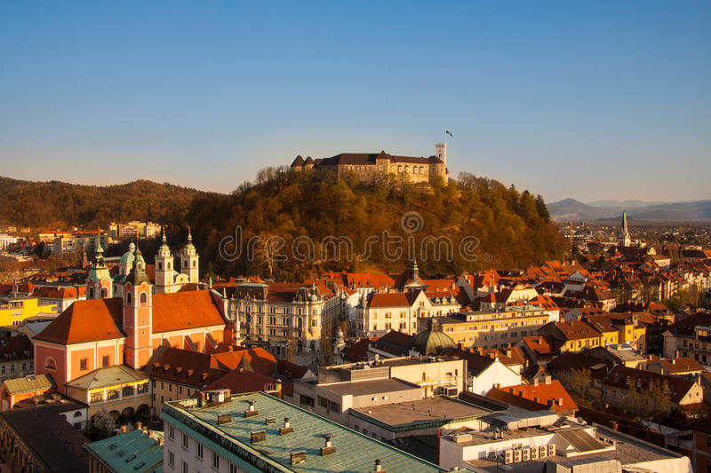 Download Ljubljana Capital Av Slovenien. Fotografering för Bildbyråer - Bild av liggande, mitt: 27280795