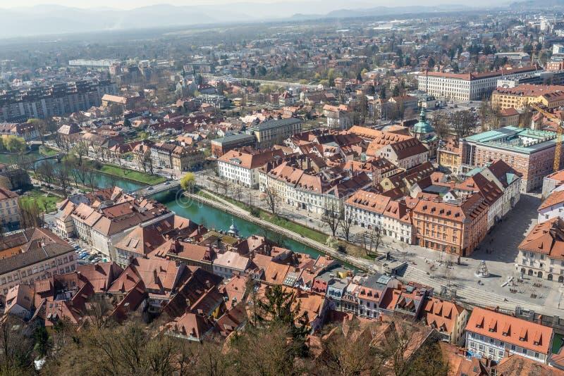 Ljubljana capital city of Slovenia stock photo
